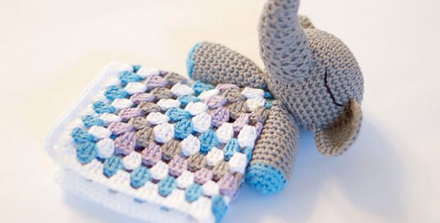 Elephant Crocheted Snuggle Blanket Free Crochet Pattern