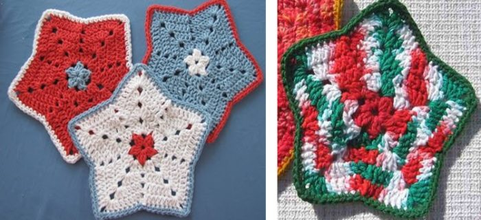 Crochet Little Star Dishcloth | the crochet space