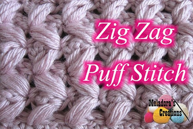crocheted zig-zag puff stitch | the crochet space