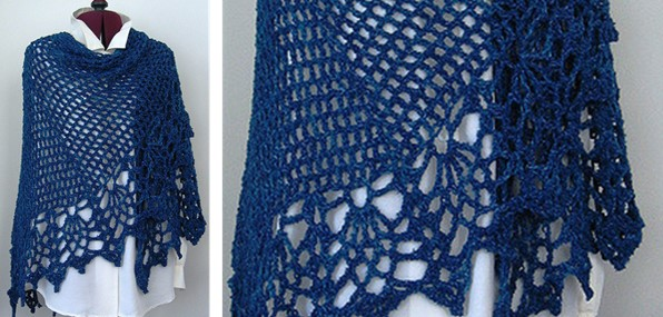 Crocheted All Shawl With Pineapples Free Crochet Pattern