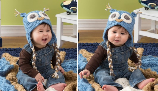 crocheted owl baby hat | the crochet space