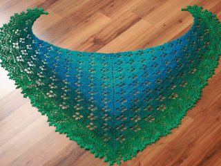 crocheted butterfly stitch prayer shawl | the crochet space