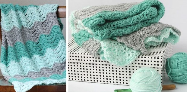 Crocheted Feather And Fan Baby Blanket Free Pattern Video Tutorial
