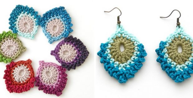 crocheted French mini peacock feathers | the crochet space