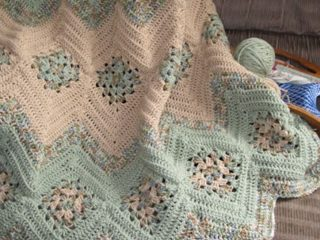 crocheted granny ripples afghan   the crochet space