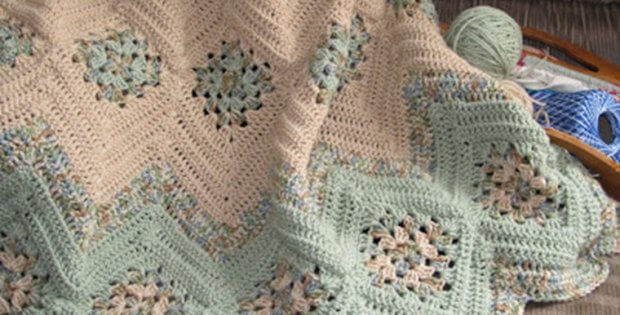 crocheted granny ripples afghan | the crochet space