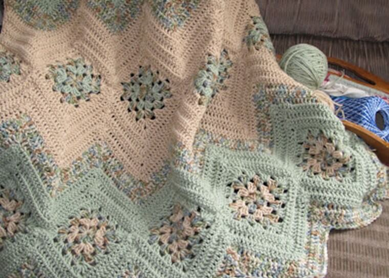 Crocheted Granny Ripples Afghan Free Pattern