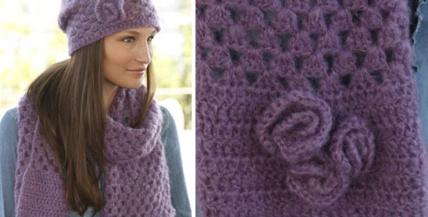 Hazel Crocheted Scarf And Hat Set [FREE Crochet Pattern]