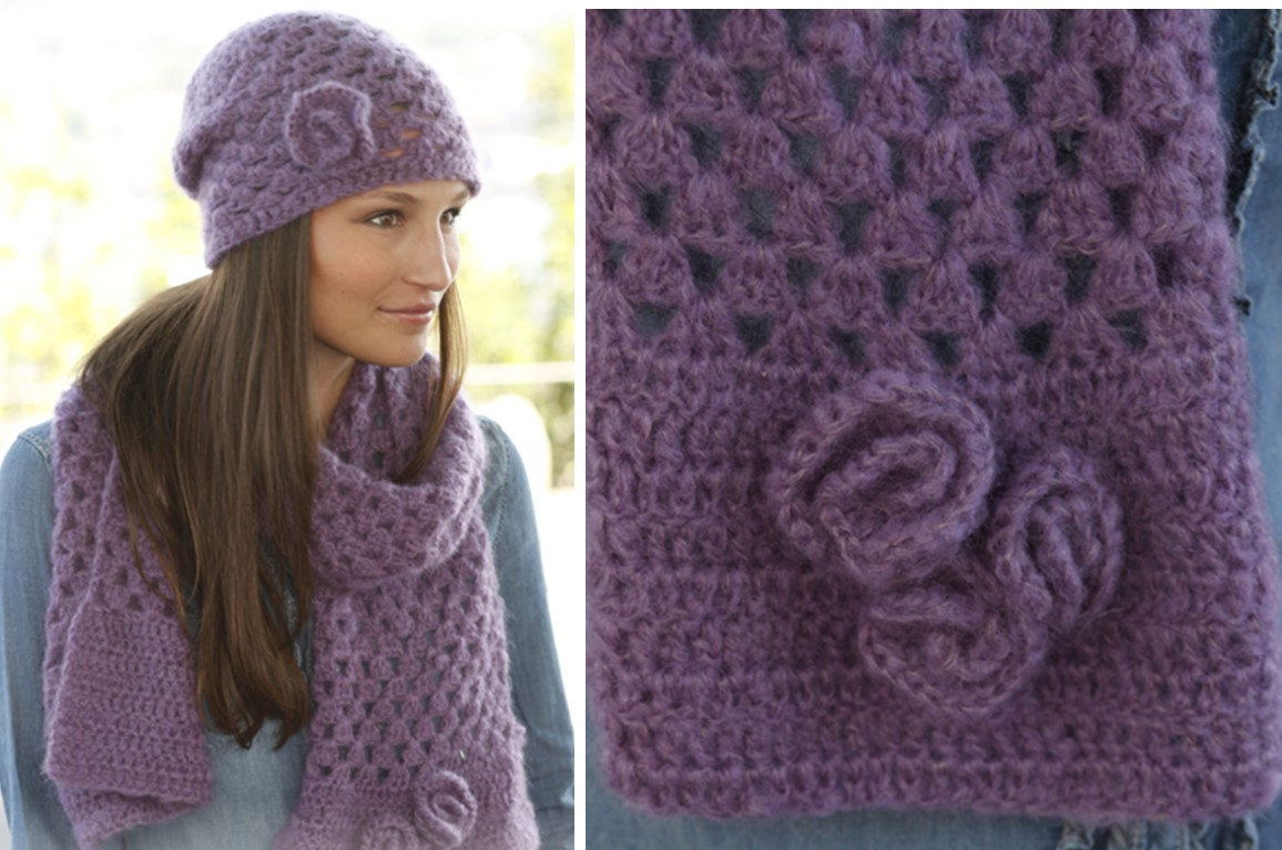 f2dcce130b6 Hazel Crocheted Scarf And Hat Set  FREE Crochet Pattern