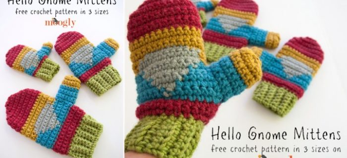 hello gnome crocheted mittens | the crochet space