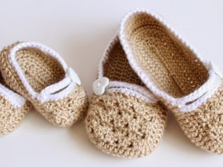crocheted matching slippers | the crochet space
