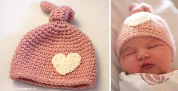Newborn Crocheted Knot Hat  FREE Crochet Pattern  4a908158846