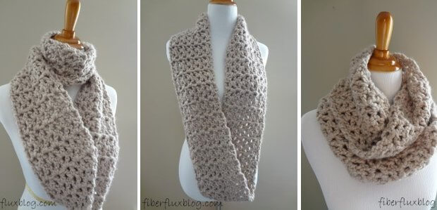Free Crochet Pattern Pavement Infinity Scarf : Pavement Crocheted Infinity Scarf [FREE Pattern + Video ...
