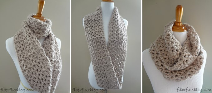 pavement crocheted infinity scarf | the crochet space