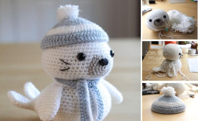 crocheted amigurumi seal | the crochet space