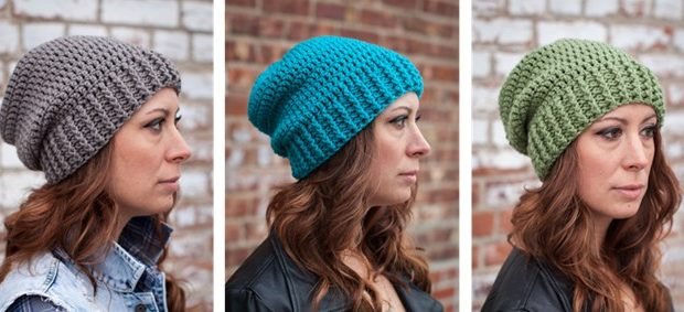 Shanti crocheted slouch hat | the crochet space