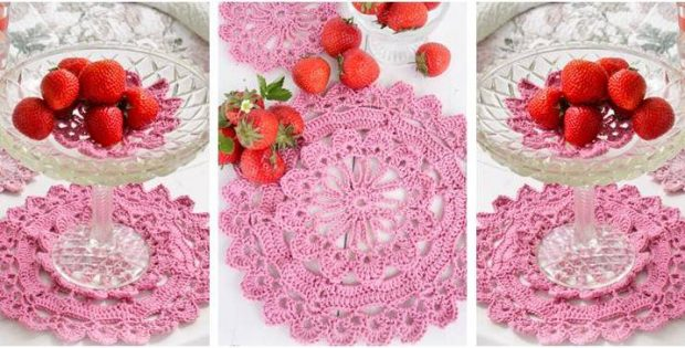 Spring Crocheted Placemats Free Crochet Pattern