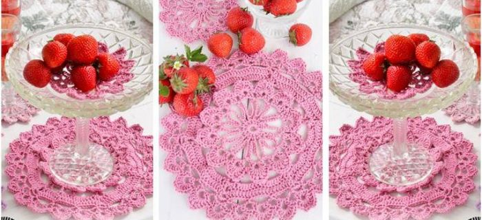 spring crocheted placemats | the crochet space