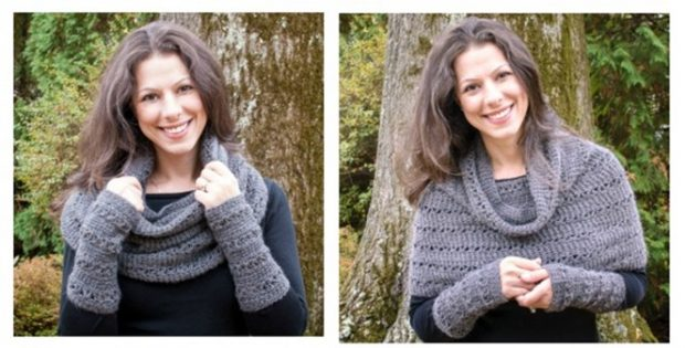 versatile v-stitch crocheted cowl | the crochet space