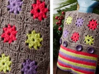 Crochet Hot Water Bottle Cozy | the crochet space