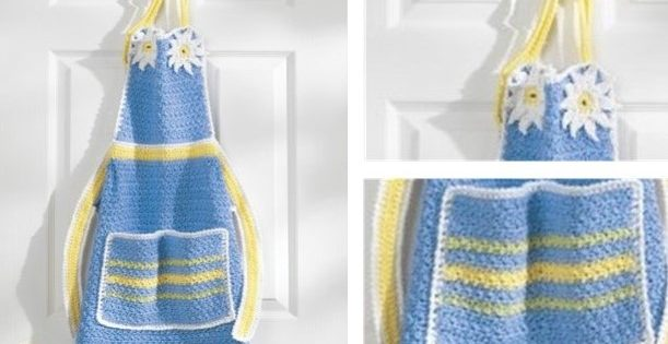 Daisy Inspired Crochet Apron | the crochet space