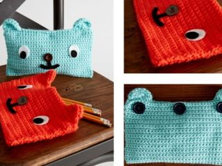 Grinning Bear Crochet Pencil Cases | the crochet space