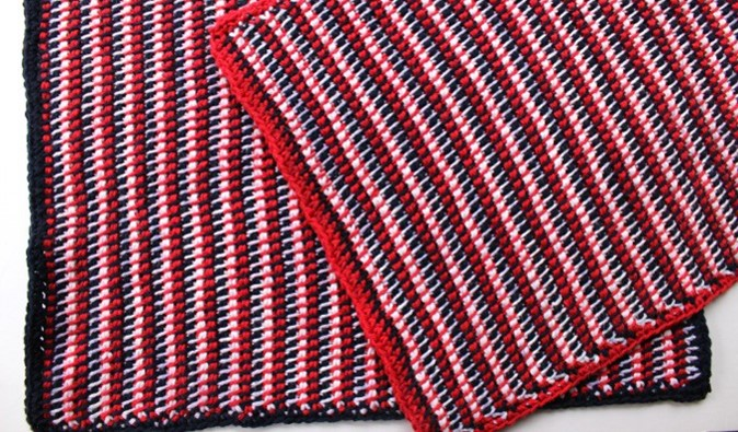 Patriotic Tunisian Crochet Placemats | the crochet space