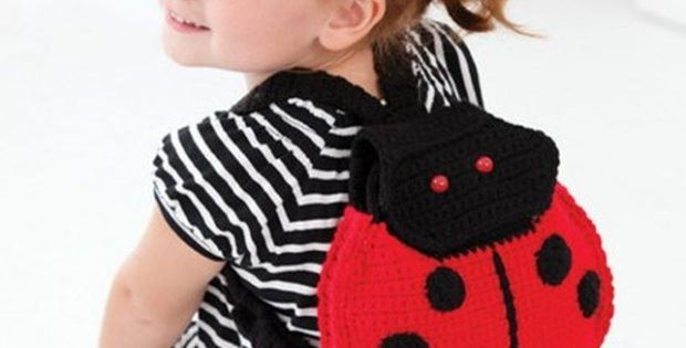 Lady Bug Crochet Back Pack | the crochet space