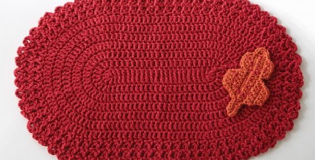 Easy Cherry Red Crochet Placemat Free Crochet Pattern
