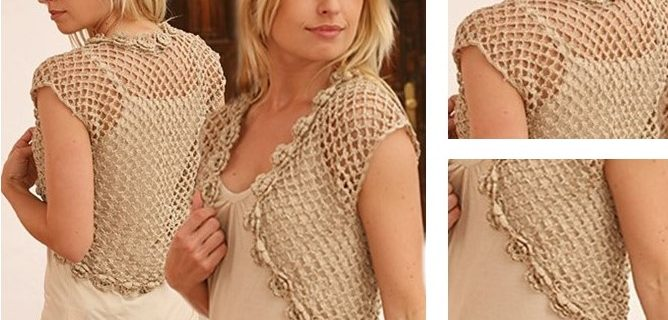 Flower Border Crochet Bolero | the crochet space