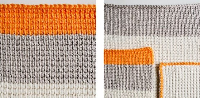 Tunisian Crocheted Washcloths | the crochet space