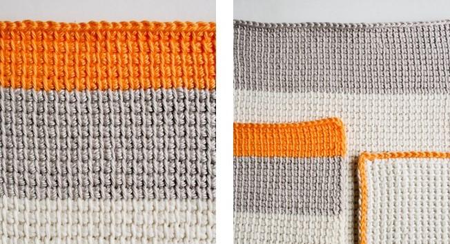 Tunisian Crocheted Washcloths | the crochet space