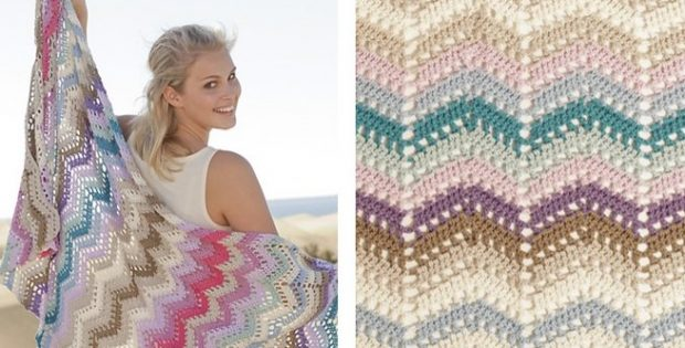 Colorful Beach Party Crochet Throw | the crochet space