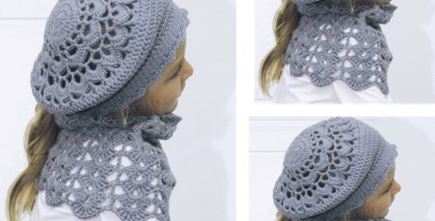 Sweet Marleen Crochet Hat Plus Neck Warmer [FREE Crochet Pattern]