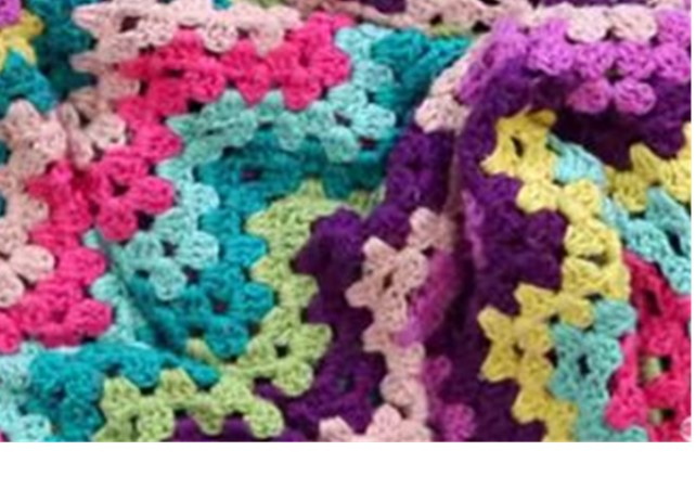 Granny Crocheted Ripple Blanket Free Crochet Pattern Video Tutorial