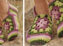 Granny Rose crocheted slippers | the crochet space