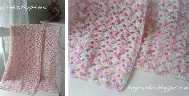 Lacy Crocheted Baby Blanket Free Crochet Pattern