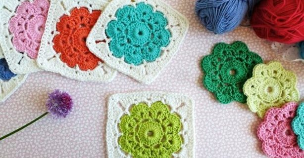 crocheted Maybelle square | the crochet space