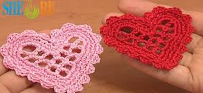 crocheted mesh heart | the crochet space