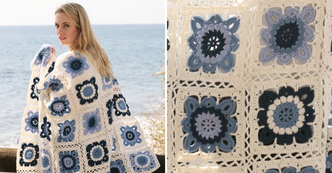 Seaside Blues Crochet Blanket | the crochet space