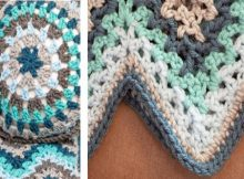 V-Stitch Ripple Crocheted Afghan | the crochet space