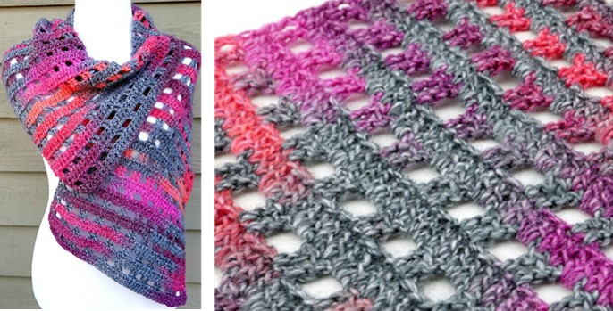 Heathered Eyelets Crocheted Wrap | the crochet space