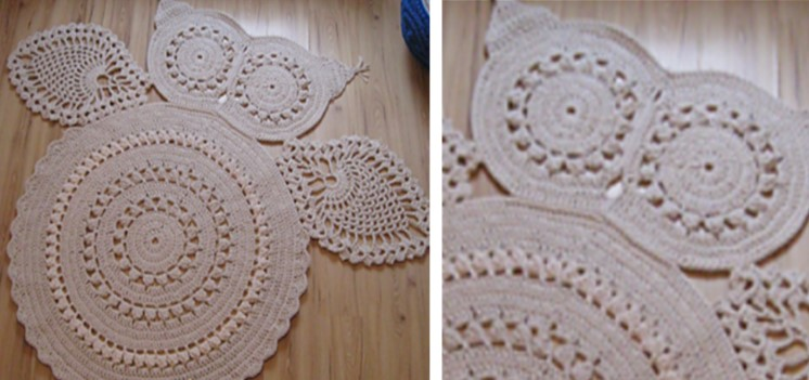 Hedvig Crocheted Owl Carpet [FREE
