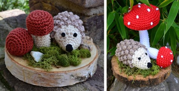 autumn crocheted hedgehog | the crochet space