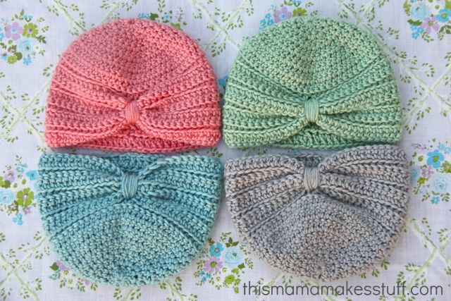 Delightful Crocheted Baby Turban Free Crochet Pattern