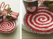 Candy Swirl crocheted hotpad | the crochet space