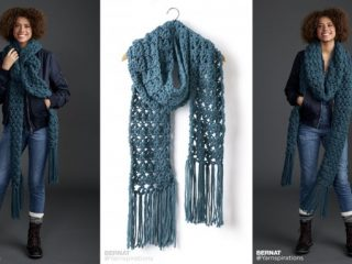 Crossing Paths crocheted super scarf | the crochet space