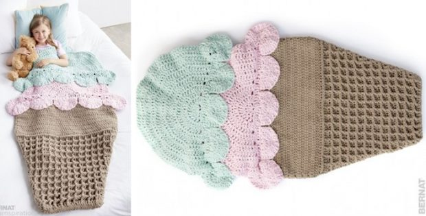 Double Scoop Crocheted Snuggle Sack Free Pattern Video Tutorial