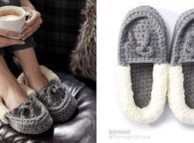 crocheted family moccasins | the crochet space