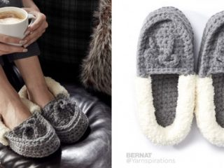 crocheted family moccasins   the crochet space